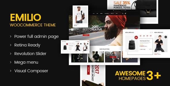 Emilio - Multipurpose Premium Responsive WordPress Theme            TFx Sasha Codie
