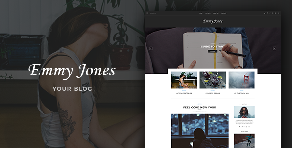 Emmy Jones – Blog PSD Template TFx PSDTemplates Gord Warwick