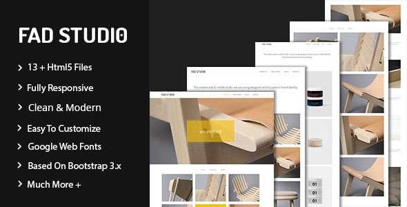 Fad Studio - Minimal Portfolio Template            TFx Khazhak Zechariah