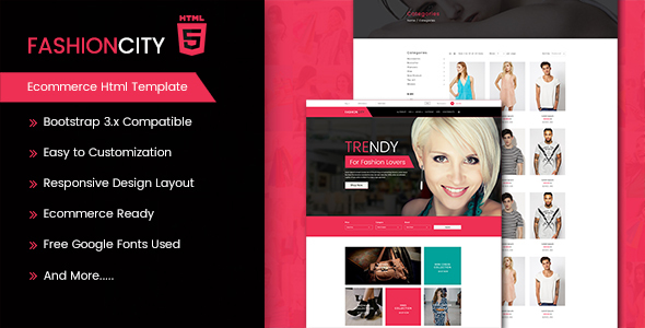 Fashion City - Ecommerce Html Template            TFx Dwi Alden
