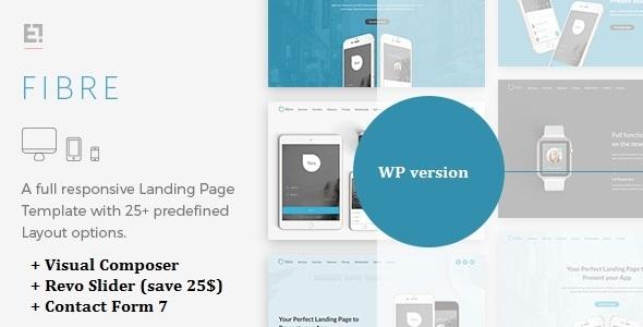 Fibre - App Landing Page WordPress Theme            TFx Quincey Wibawa