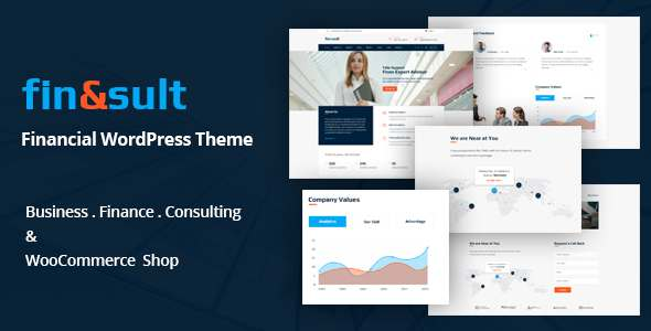 FinSult - A Business Consulting and Finance WordPress Theme            TFx Wes Kelley