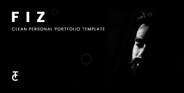 Fiz | Clean Personal Portfolio Joomla Template TFx Earl Lamar
