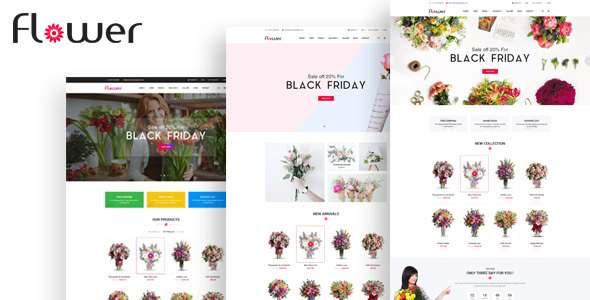 Flower - Flower E-commerce PSD Template            TFx Alban Louis