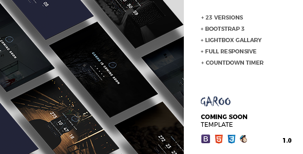 GAROO – Coming Soon Template TFx SiteTemplates Nicky Benjy