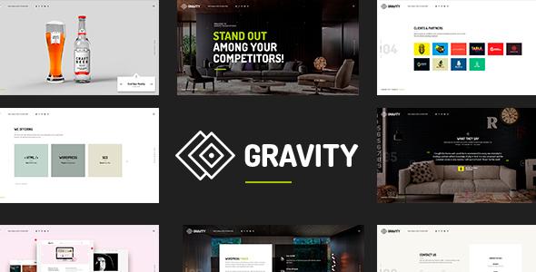 Gravity - Creative Agency & Presentation Theme            TFx Crispin Zavier