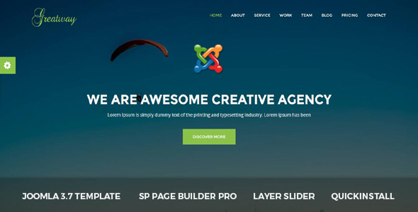 Greatway - Material Design Agency Joomla Theme            TFx Vincent Blythe