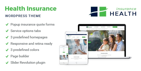 Health Insurance - Insurance WordPress Theme            TFx Kenrick Garret