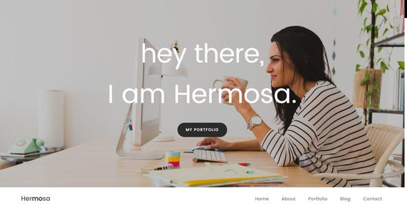 Hermosa – Portfolio One Page Template TFx Ralph Jezza