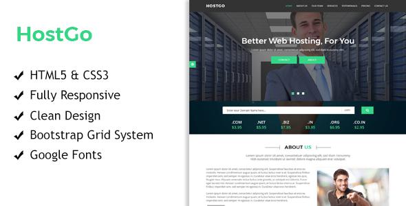 HostGo - Web Hosting Responsive HTML Template TFx Kohaku Linford