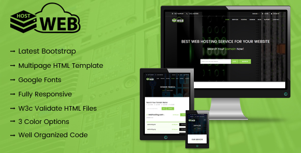 HostWeb - Responsive Web Hosting HTML Template            TFx Wilf George