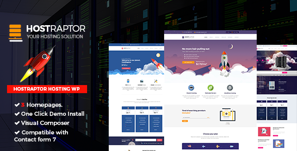 Hostraptor - Hosting Responsive Website Theme            TFx Haru Hayden