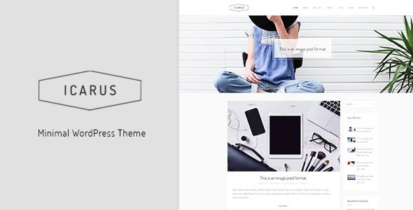 Icarus - Personal Blog WordPress Theme            TFx Bill Clement