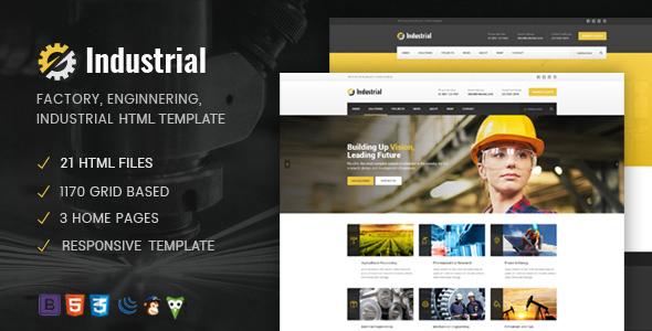 Industrial - Factory / Industry / Engineering HTML Template            TFx Ogden Katsu