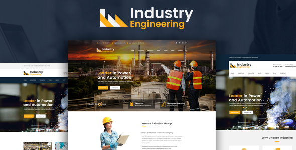 Industry Engineering – Industrial And Engineering HTML Template TFx Merrill Rickey