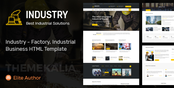 Industry - Factory, Industrial Business HTML Template            TFx Alphonso Gorden