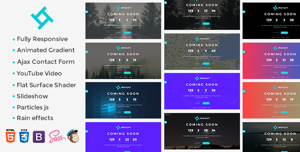 Insight - Coming Soon Template TFx SiteTemplates Gordian Clair