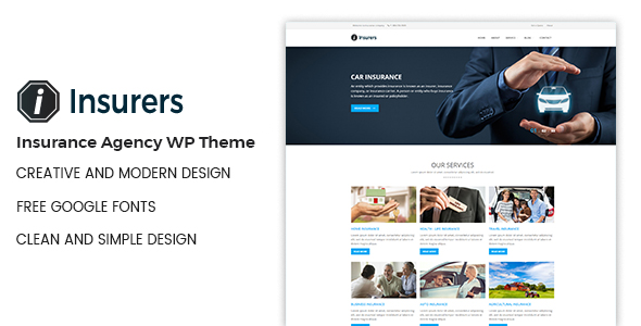 Insurers - Insurance Agency WordPress Theme            TFx Gus Kermit