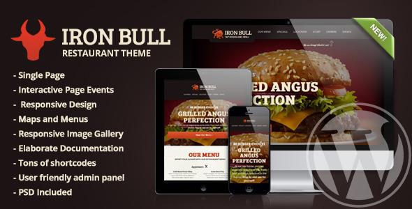 Iron Bull Restaurant Concrete5 Theme TFx Aloysius Milo