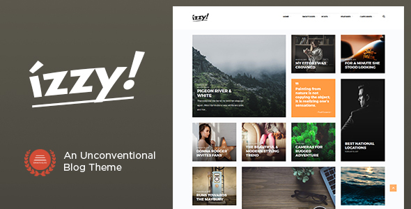 Izzy – An Unconventional Blog Theme TFx WordPress Jordan Vortigern