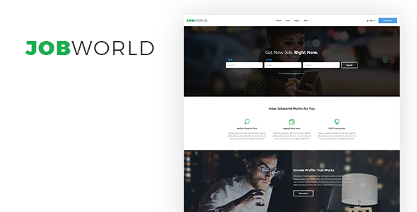 Job Portal Template | Job World TFx PSDTemplates Sterling Selwyn