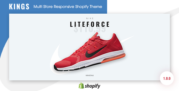 KINGS - Multi Store Responsive Shopify Theme            TFx Chip Lorin