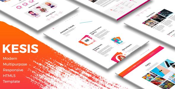 Kesis   Modern Multipurpose Responsive HTML5 Template            TFx Erick Nicky