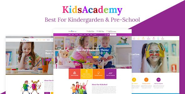 KidsAcademy -Kids Kindergarten & School HTML Template            TFx Ty Hadrian