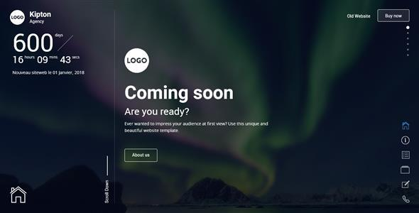 Kipton - Beautiful and Creative Website Template for Coming Soon Page TFx Clay Keiran