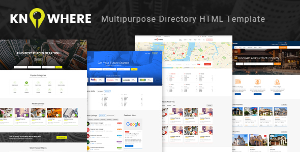 Knowhere - Multipurpose Directory HTML Template            TFx Conor Jurou