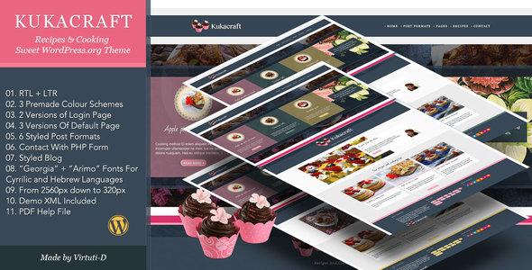 Kukacraft–Sweet Recipe WP Blog +RTL            TFx Montana Oliver