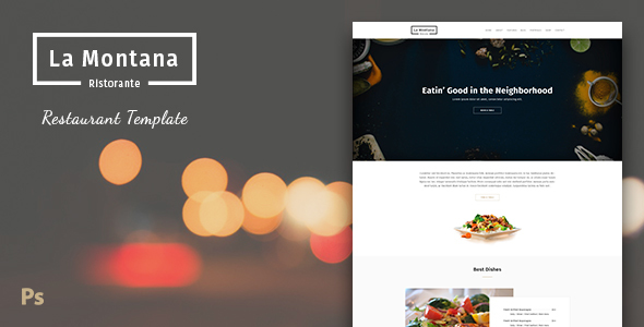 LaMontana - Restaurant PSD Template            TFx Maverick Rod