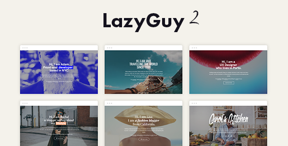 LazyGuy 2 - Personal Landing Page Template for Everyone            TFx Gale Maximillian