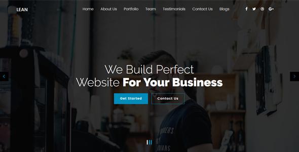 Lean - One Page Portfolio WordPress Theme            TFx Wendell Zachariah