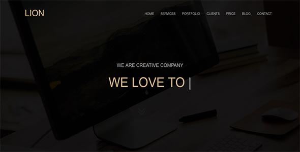 Lion - Parallax One Page            TFx Layton Sammie