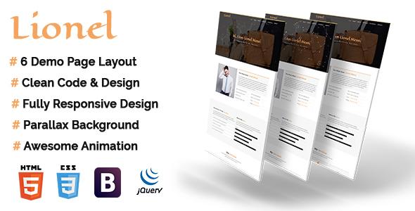 Lionel – Personal Portfolio HTML5 Template            TFx Michi Dallas