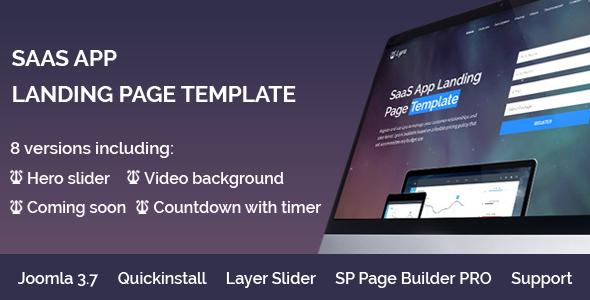 Lyra - SaaS App Landing Page Multipurpose Joomla Template with page builder            TFx Cherokee Drogo