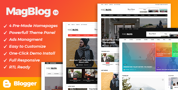 MagBlog – News & Editorial Magazine Blogger Theme            TFx Cordell Kaito