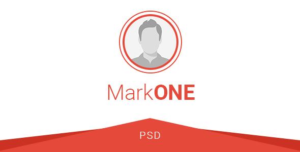 MarkONE - OnePage Resume PSD Template            TFx Kazuki Rudyard