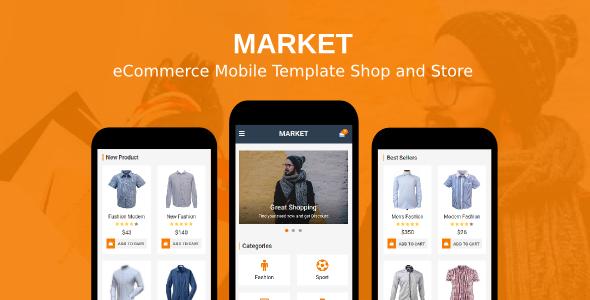 Market - eCommerce Mobile Template Shop and Store            TFx Kian Dezi