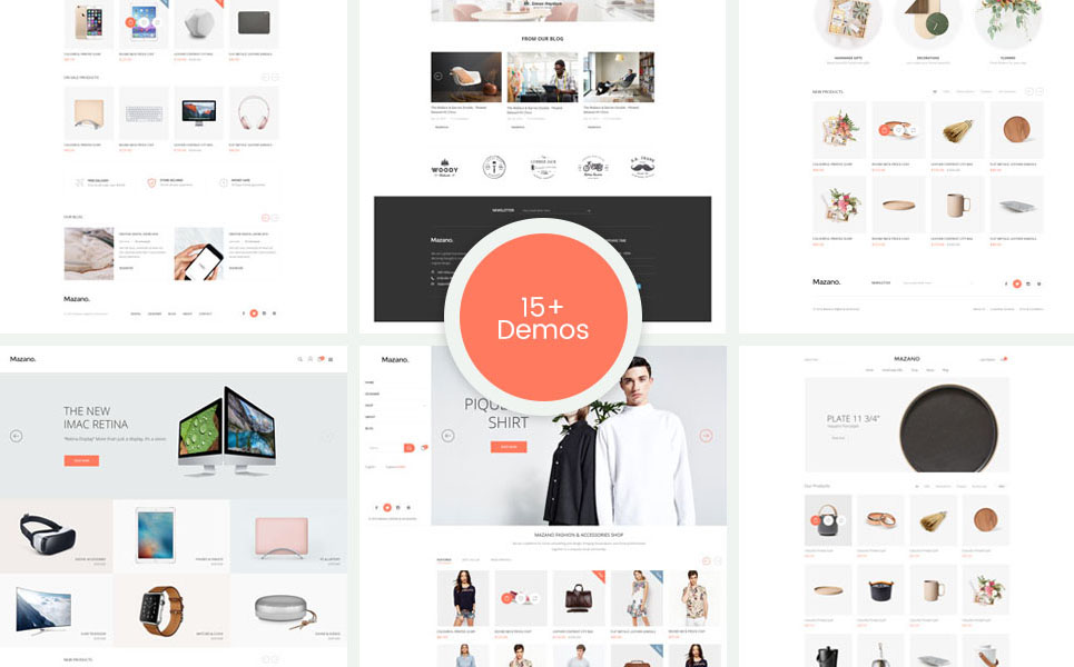 Mazano - Responsive, Minimalist Fashion, Furniture Shopify Theme TMT Ora Lynn