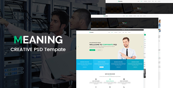Meaning - Corporate PSD Template TFx PSDTemplates Radcliff Caligula