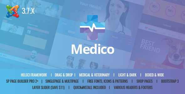 Medico - Medical&Veterinary Multipurpose Business Joomla Theme            TFx Kurt Steven