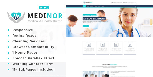 Medinor - Health And Medical HTML Template TFx German Gurgen