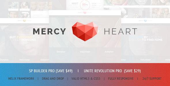 Mercy Heart – Modern Charity Responsive Joomla Theme TFx Griffin Jess