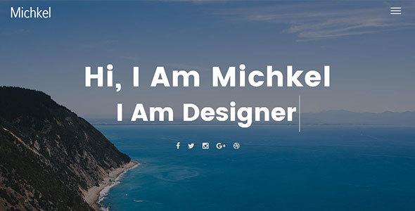 Mickhel – Creative Portfolio Template            TFx Garnett Cohen
