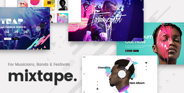 Mixtape - A Fresh Music Theme for Artists, Bands, and Festivals            TFx Jamison Wenceslas