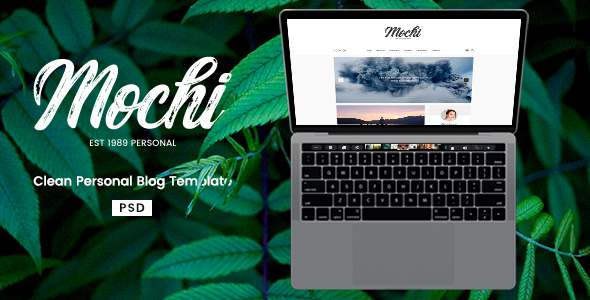 Mochi - Clean Personal Blog PSD Template            TFx Wibowo Delroy