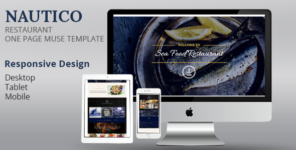 NAUTICO One Page Restaurant Muse Template            TFx Denver Isiah