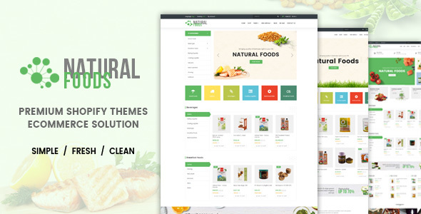 Natural Food - Responsive Drag & Drop Shopify Theme            TFx Daryl Vin